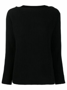 Calvin Klein button detail ribbed jumper - Black