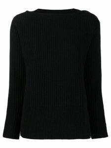 Calvin Klein button detail ribbed jumper - Black