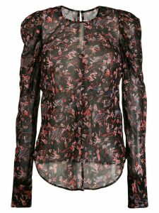 IRO floral print long-sleeve top - Black