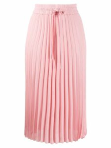 RedValentino drawstring-waist pleated skirt - PINK
