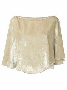 Sonia Rykiel cropped velvet blouse - NEUTRALS