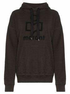 Isabel Marant Étoile Mansel logo hoodie - Black
