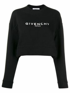 Givenchy cropped logo sweatshirt - Black