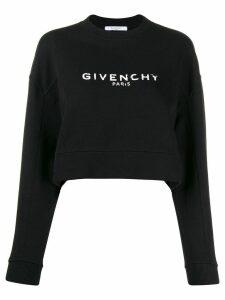 Givenchy cropped logo sweatshirt - Black