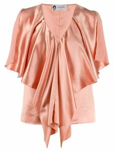 LANVIN v-neck draped top - PINK