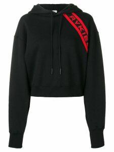 Sonia Rykiel contrast logo hoodie - Black