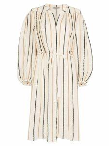 Three Graces Julienne striped midi dress - NEUTRALS