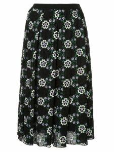 Giambattista Valli floral embroidered skirt - Black