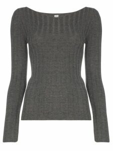 Totême Toury ribbed knit top - Grey