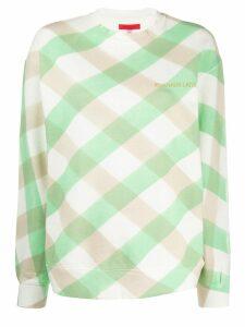 Eckhaus Latta Lattice check sweatshirt - Green