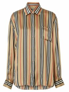 Burberry Icon oversized shirt - Brown