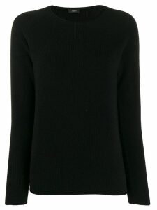 Joseph round neck knit top - Black