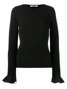Valentino frill sleeve jumper - Black