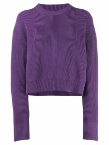 Mm6 Maison Margiela Lila boxy knit jumper - PURPLE