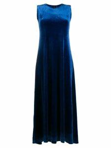 Norma Kamali sleeveless flared dress - Blue