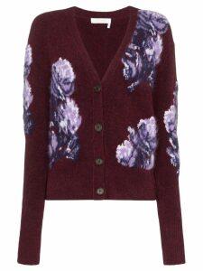 Chloé floral intarsia knit cardigan - Multicolour