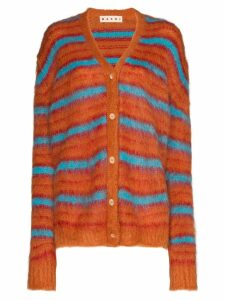 Marni striped knit cardigan - Orange