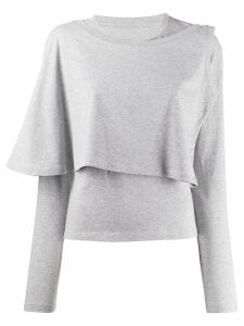 Mm6 Maison Margiela long sleeved knitted top - Grey