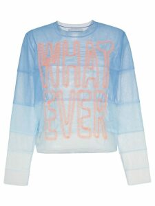 Viktor & Rolf Whatever panelled tulle top - Blue