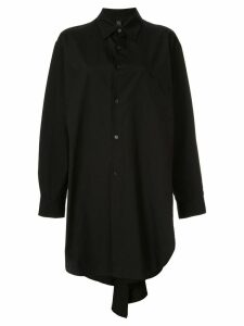 Y's long plain shirt - Black