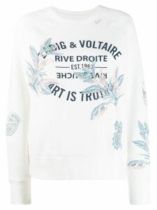 Zadig & Voltaire logo printed sweater - White