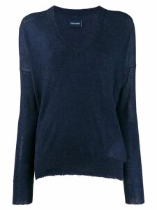Zadig & Voltaire v-neck sweater - Blue