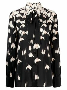 Valentino printed long-sleeve blouse - Black