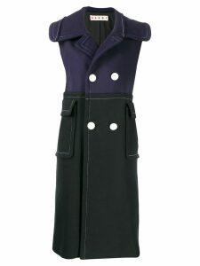 Marni double breasted sleeveless coat - Y5664 BLACK LIGHT NAVY