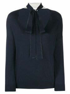 Red Valentino bow tie jumper - Blue