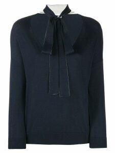 RedValentino bow tie jumper - Blue