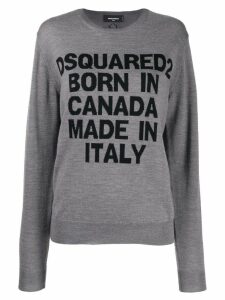 Dsquared2 logo intarsia jumper - Grey