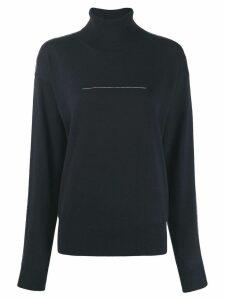Mm6 Maison Margiela fine knit sweater - Blue