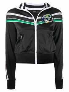 Diesel striped detail zipped jacket - Black