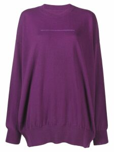 Mm6 Maison Margiela fine knit sweater - PURPLE