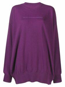 Mm6 Maison Margiela fine knit sweater - Purple
