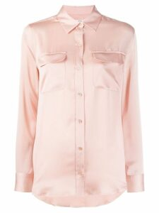 Equipment silky shirt - PINK