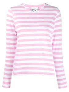 GANNI striped top - PINK