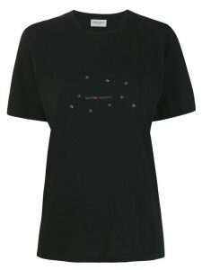 Saint Laurent constellation logo print T-shirt - Black