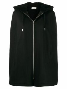 Saint Laurent cape-style hooded jacket - Black
