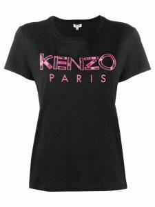 Kenzo peonies logo T-shirt - Black