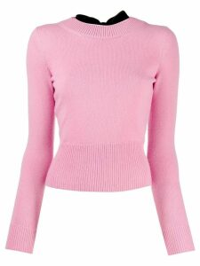 Alexander McQueen bow back sweater - PINK