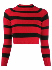 Miu Miu grunge stripe jumper - Red