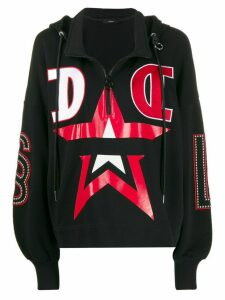 Diesel stud detail hooded sweatshirt - Black