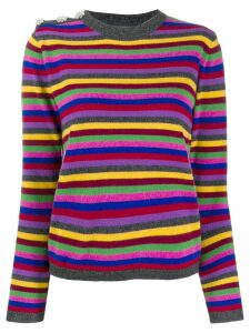 GANNI striped cashmere jumper - Grey