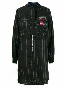 Diesel striped print dress - Black