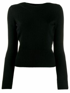 Alexander McQueen tie-back knit jumper - Black