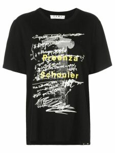 Proenza Schouler White Label PSWL column print short sleeve T-shirt -