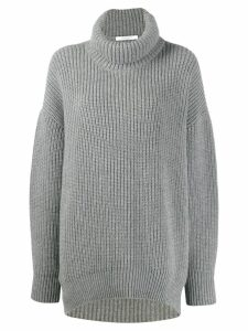 Givenchy oversized funnel neck jumper - Grey
