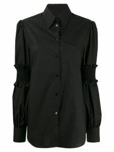 Mm6 Maison Margiela ruffle sleeve shirt - Black