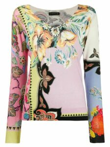 Etro floral print jumper - PINK